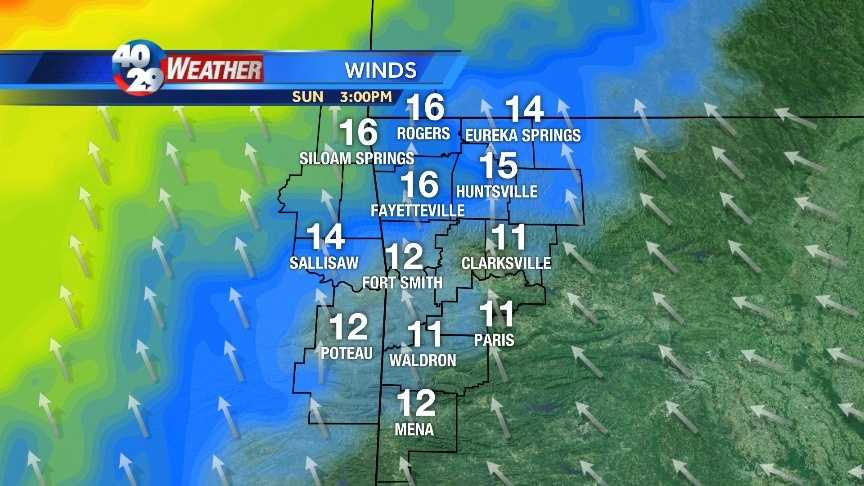 Winds pick up Sunday afternoon and will help to warm temps up a bit.