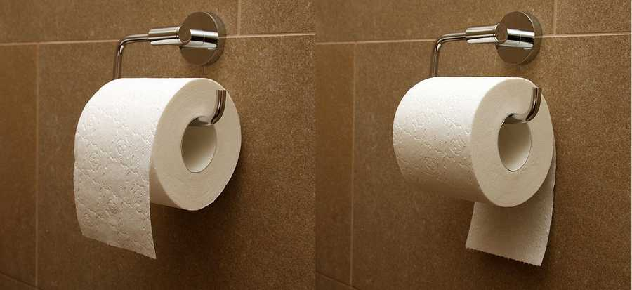 Several surveys have found that most Americans prefer to hang their toilet paper over the roll instead of under it.