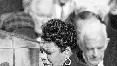 Maya Angelou, poet. Stamps.