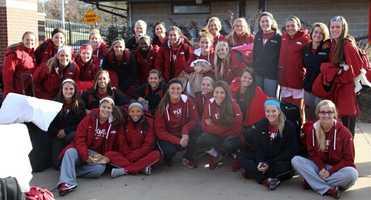 The Razorback Soccer Team team leaving for the NCAA tournament