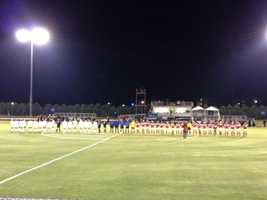 The Razorback Women's Soccer Team beat the Oklahoma State Cowgirls in the first round of the NCAA Tournament in Stillwater, Oklahoma Friday night.