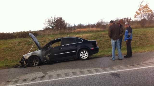 car fire spdale pic