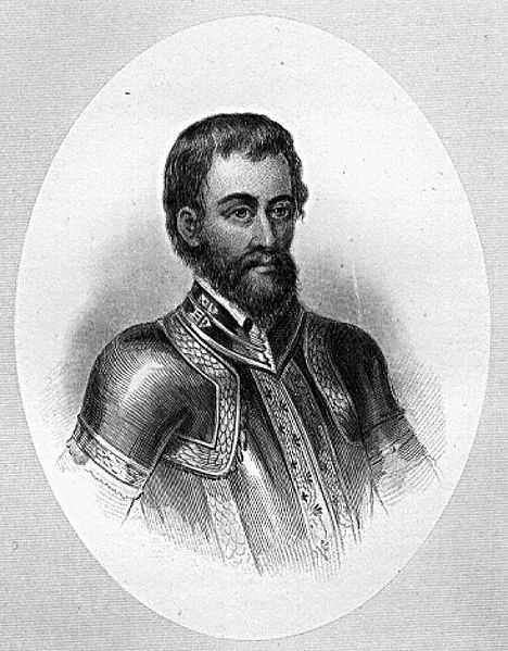 Hernando de Soto, in 1541.
