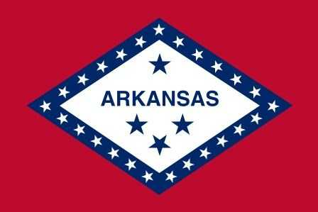 The three countries Arkansas has been a part of -- Spain, France and the United States.