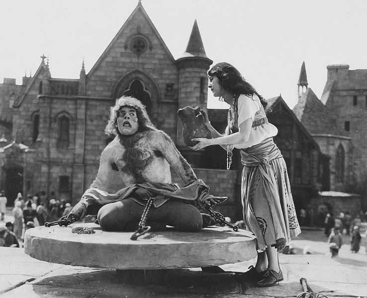 """It took makeup artists more than two hours to apply Lon Chaney's makeup in Universal's 1925 film """"The Hunchback of Notre Dame."""""""