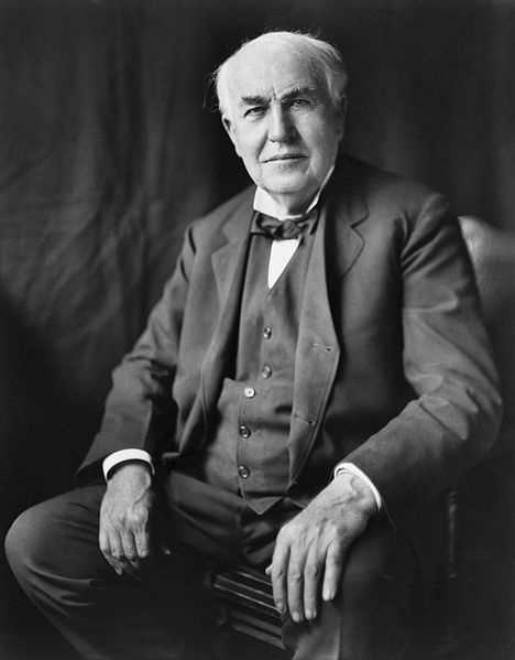 Thomas Edison presented Universal with a plaque dedicating its first electric-powered studio in 1915.