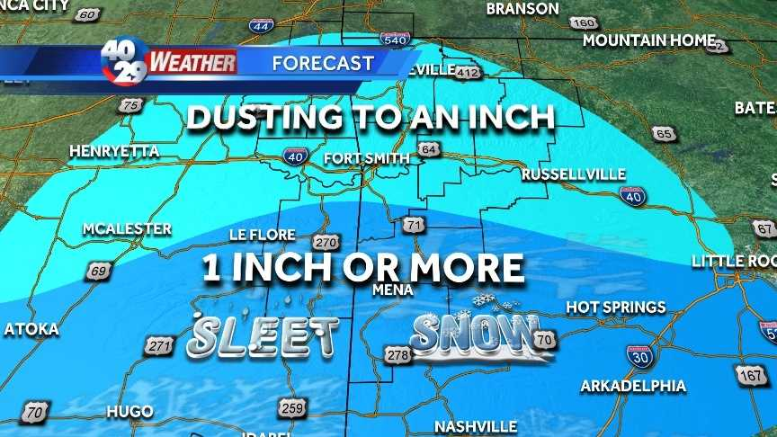 Winter is moving in with bitter cold temperatures for Sunday morning and possible snow coming Sunday night and into Monday.