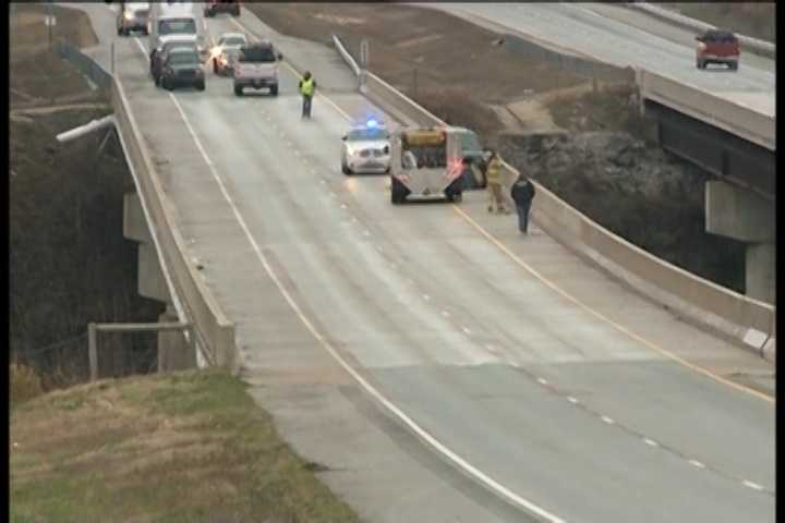 A separate accident on the 412 bridge.
