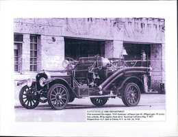 Fayetteville's first motorized fire engine, in 1918.