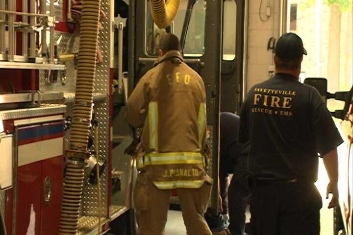 Fayetteville fire engine in 2013.