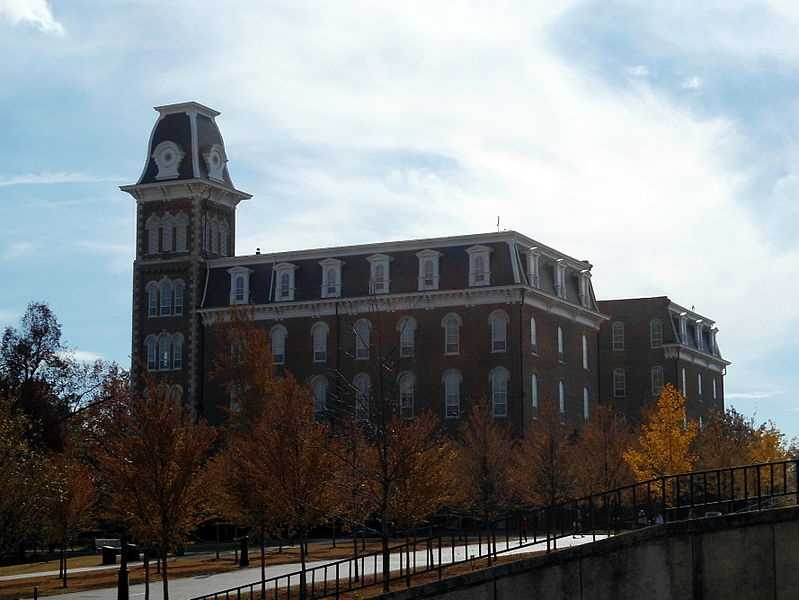 Old Main in 2012, as seen from campus.