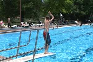 Swimming at the Wilson Park Pool in the summer of 2013.