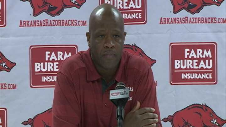 University of Arkansas men's basketball head coach Mike Anderson