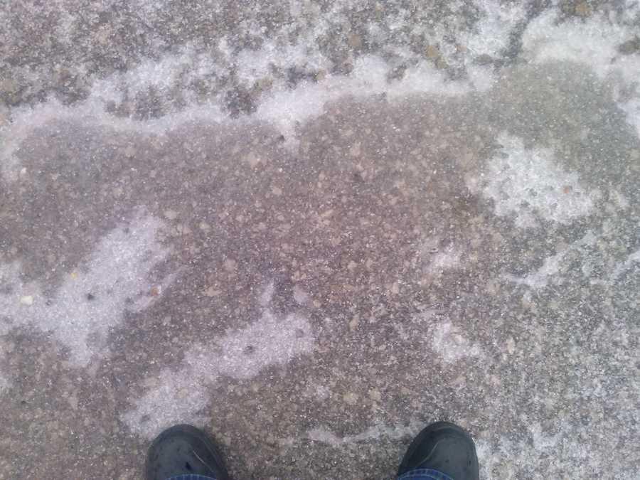 Ice on Highway 71