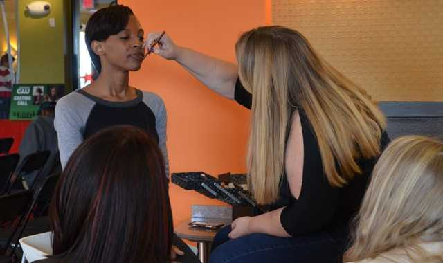 Professional Make Up Artist Kim Peasebrought in by Project Fabulous to talk about make up and best practices.