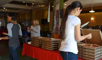 Eureka Pizza Dropped of some delicious lunch for all the applicants.