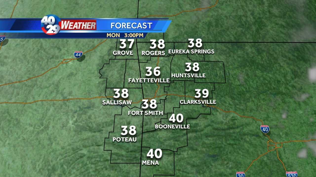 Cold for Monday, but warming into New Year's