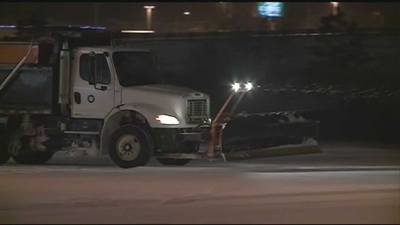 Road crews in Fayetteville will be working overnight to keep roads from getting too dangerous.