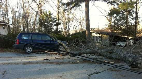 Hundreds without power after strong winds knock down power lines