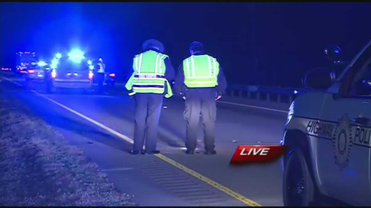Police say a construction worker was killed when he was hit by a car Thursday morning on I-40