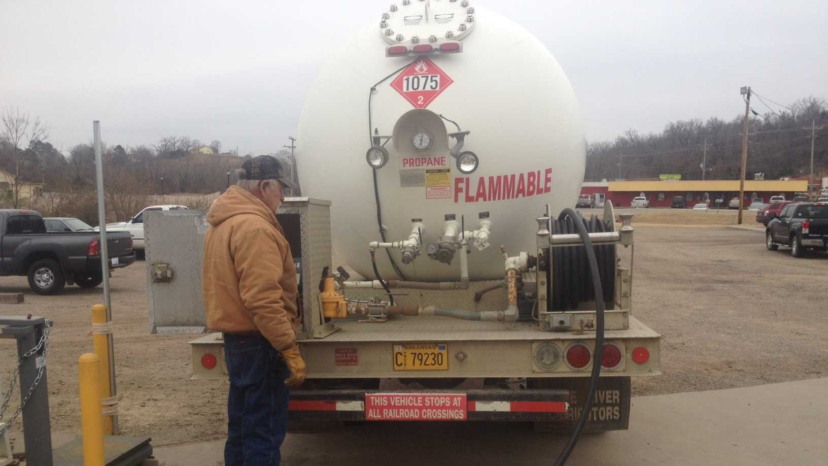 Price of propane high in face of winter weather