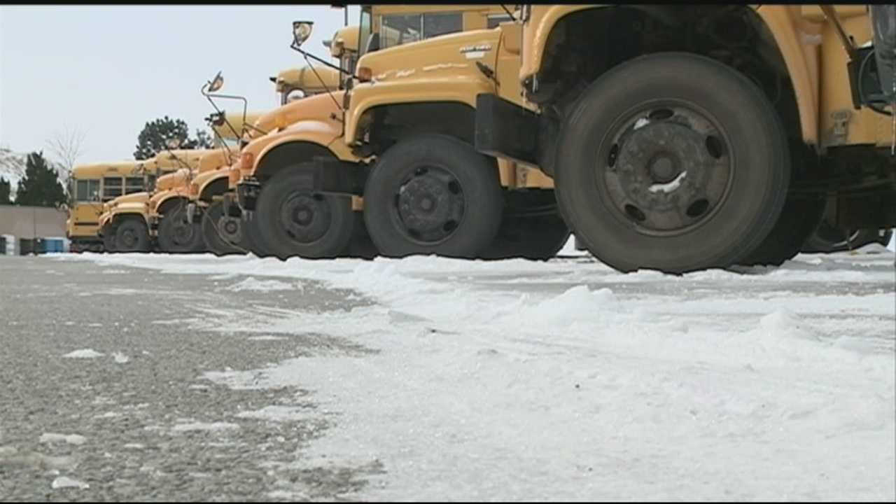 Many Bentonville students were late to school Thursday morning after school buses wouldn't start in the cold