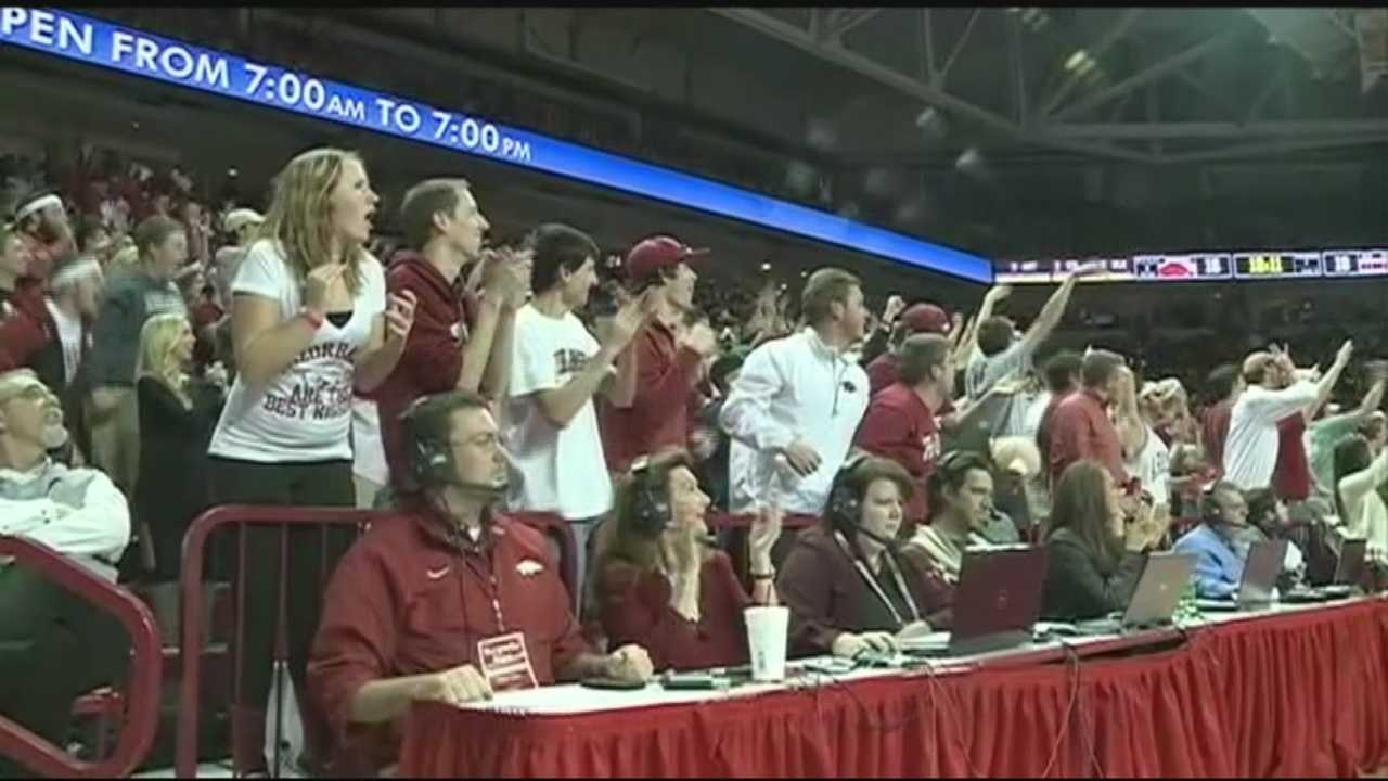 Bud Walton Arena was packed Wednesday as the team took on the Ole Miss Rebels.