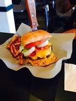 Double Bacon Cheeseburger w/ hand cut fries, Taste Bar & Grill, Fayetteville