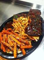 Meatloaf with sweet fries, Tilted Kilt Pub & Eatery, Fayetteville