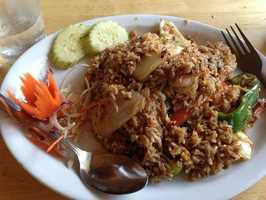 Twin Kitchen in Fayetteville: Basil Fried Rice