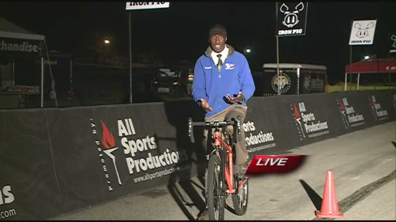 Hundreds of athletes will bike or run across parts of Fayetteville