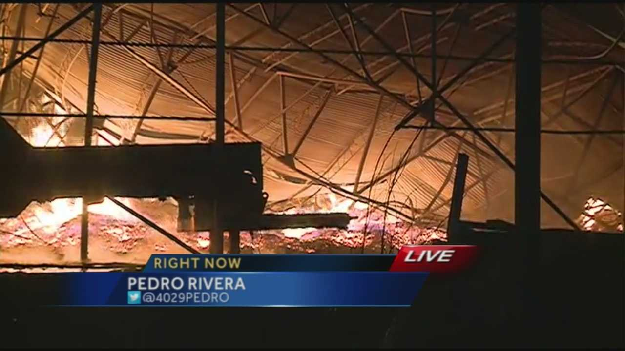 Sawdust and wood inside a pallet factory served as kindling as the business caught fire early Thursday morning.