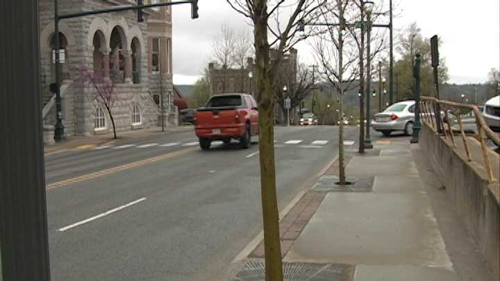 If driving through Fayetteville this morning, you may run into delays along College Avenue as city workers replace trees along the sidewalks and in the medians.