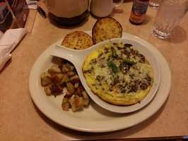 Greek Frittata, The Egg & I-Rogers