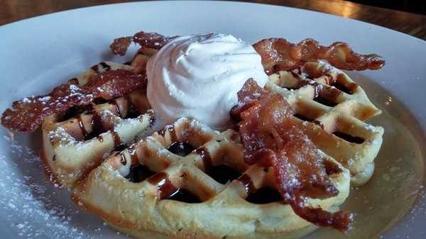Candied Bacon Waffle Sunday Brunch, East Side Grill-Fayetteville