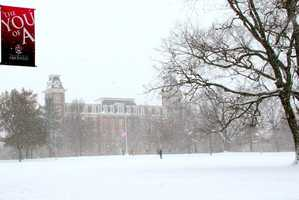 Question: Of Old Main's two Towers, which is taller, the North or South?