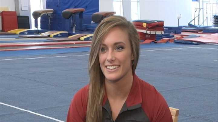 Arkansas senior All-American and two-time NCAA Champion gymnast Katherine Grable