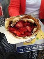 Crepe's Paulette-Bentonville: The Nutty Monkey with Strawberries added