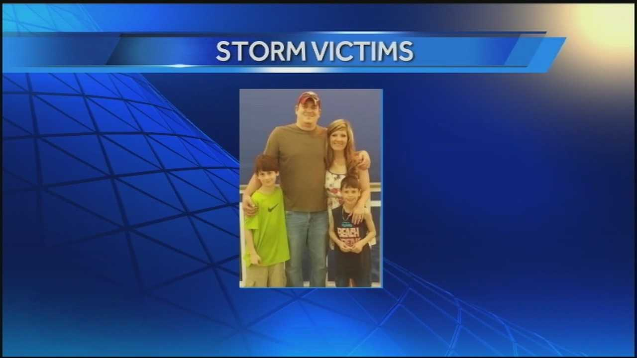 Cameron and Tyler Smith died when a tornado hit Sunday night.