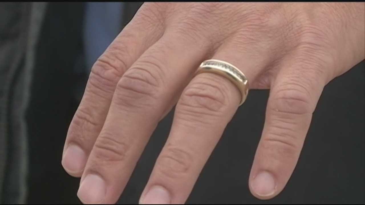 Woman lost wedding ring in the storm