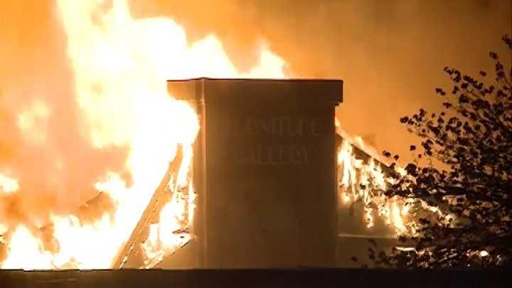 lumber yard fire in bella vista