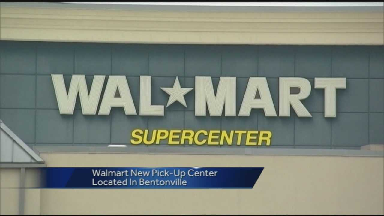 Walmart says shoppers would order groceries online, then pick them up at a Bentonville location.