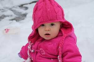 12. HarperA ulocal viewer sent this photo in of Harper enjoying her first snow!