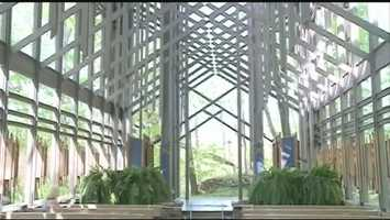 Thorncrown Chapel:The chapel was named among the top four buildings of the 20th century by the American Institute of Architects. The chapel uses 425 large panels of glass to showcase the natural beauty of the Ozarks. Designed by world-renowned Arkansas architect, the late E. Fay Jones, the non-denominational chapel is open from March through December.12968 U.S. 62, Eureka Springs, Arkansashttp://www.thorncrown.com/