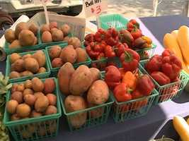 """Fayetteville Farmers Market:Since 1973, the market has offered the finest in locally produced vegetables, fruits, flowers, plants, meats, baked goods, honey, eggs, jams, juried crafts, and fine art from the four-county area. Open Tuesday, Thursday (7 a.m. – 1 p.m.) and Saturday (7 a.m. – 2 p.m.) around the Historic Fayetteville Square, each market day is a feast for the eyes, ears and palate. Known as the """"Crown Jewel of Fayetteville,"""" the Saturday market is alive with street performers, local musicians, community organizations, tourists and locals alike."""