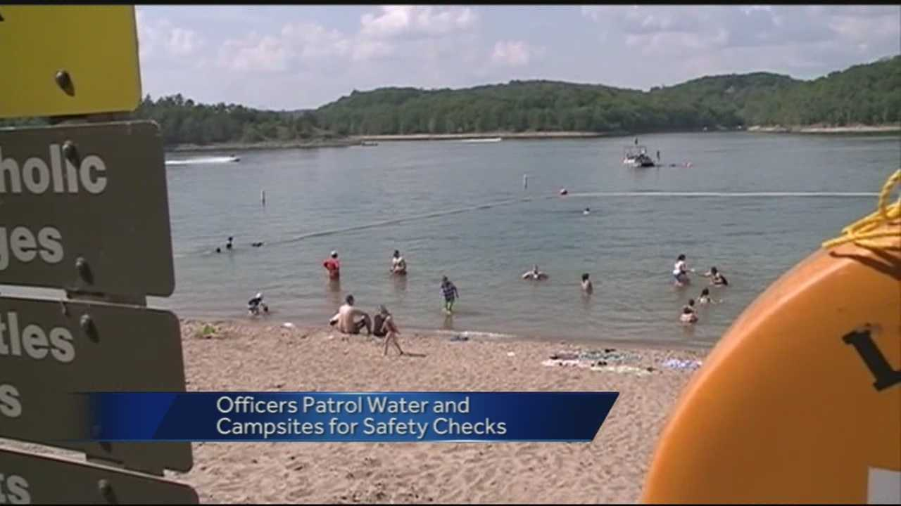 Officers keep watch over busy lake weekend