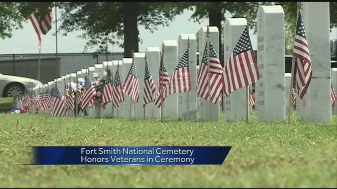 Residents of Fort Smith honored veterans in a Memorial Day ceremony at the Fort Smith National Cemetery.