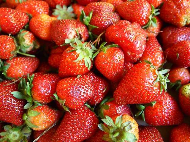 Strawberries for face:Strawberries can combat oil, work as an antioxidant, and brighten your face.Just mash into a mask and apply to your face.You can also make a foot scrub with strawberries, olive oil and kosher salt.Source: Care2