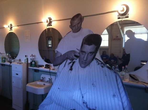 If dad still laces up his blue suede shoes, take him back in time with a trip to the Elvis Barber Shop Museum at Chaffee Crossing.