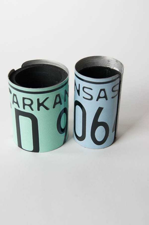 Dad can keep his favorite beverage cold with these recycled license plate coozies from The Mustache Goods and Wears.